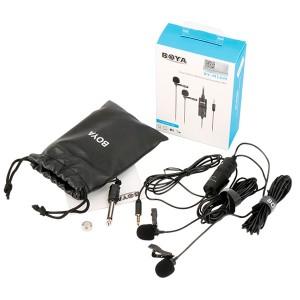 Микрофон петличный BOYA BY-M1DM двойной