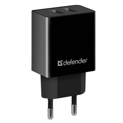Сетевой адаптер Defender UPA-22 черный, 2xUSB, 2.1А