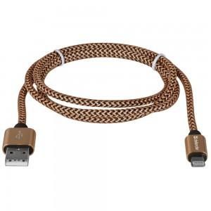 USB кабель Defender ACH01-03T PRO USB2.0 Золотой, AM-LightningM, 1m,2.1A