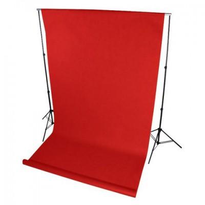 Фон нетканый (красный) 1,6×2,5м (На картонной трубке)