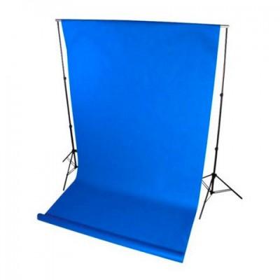 Фон нетканый (синий) 1.6×5м (На картонной трубке)