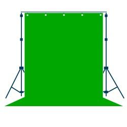 Фон тканевый зеленый (хромакей) - 3x3м