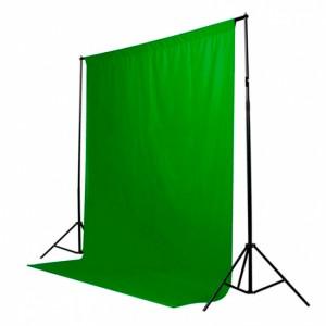 Фон тканевый зеленый (хромакей) - 3x6м
