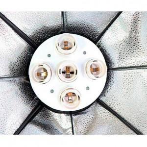 Октобокс Ф90 см для 5 ламп постоянного света с цоколем е27