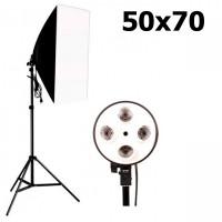 Софтбокс 50х70 см для 4-х ламп + стойка