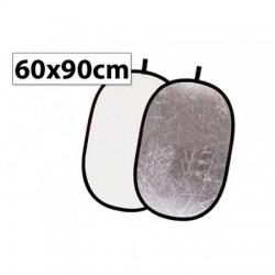 Отражатель овальный  60x90 см - белый/серебро