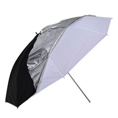 Зонт комбинированный два в одном (просвет/отражение) 86 см